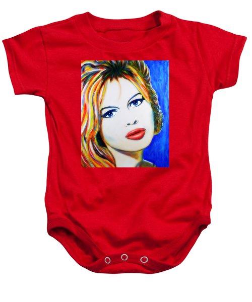 Brigitte Bardot Pop Art Portrait Baby Onesie
