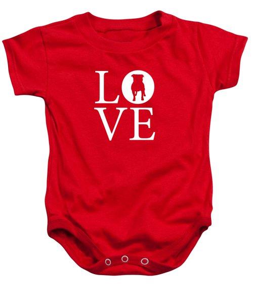 Bulldog Love Red Baby Onesie
