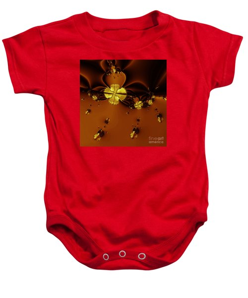 Bumble Beez Over Chocolate Lake . Square . S19 Baby Onesie