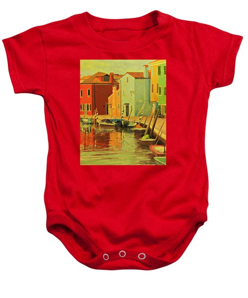 Burano, Italy - Study Baby Onesie