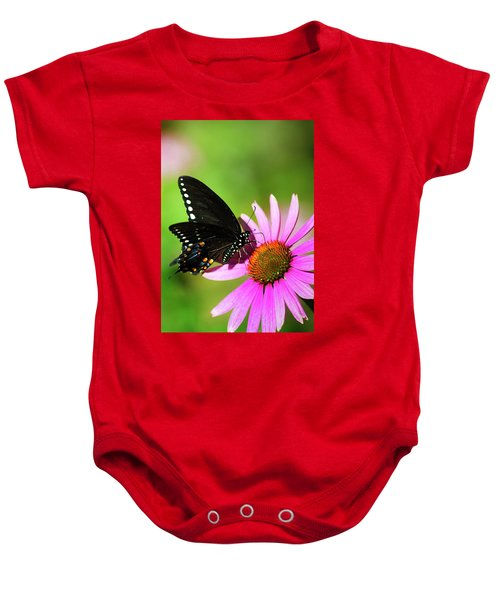 Butterfly In The Sun Baby Onesie