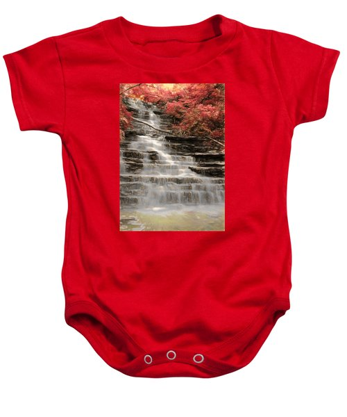 Baby Onesie featuring the digital art Buttermilk Falls by Charmaine Zoe
