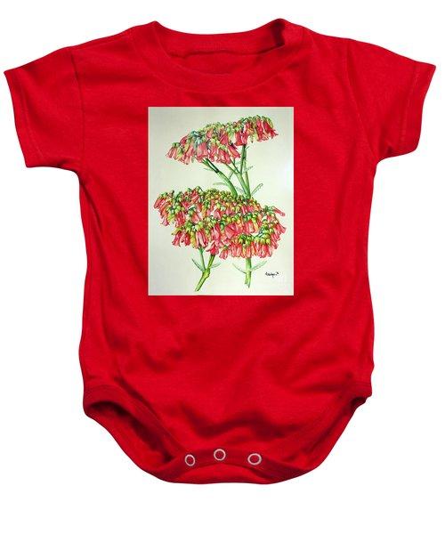 Cactus Flower 3 Baby Onesie