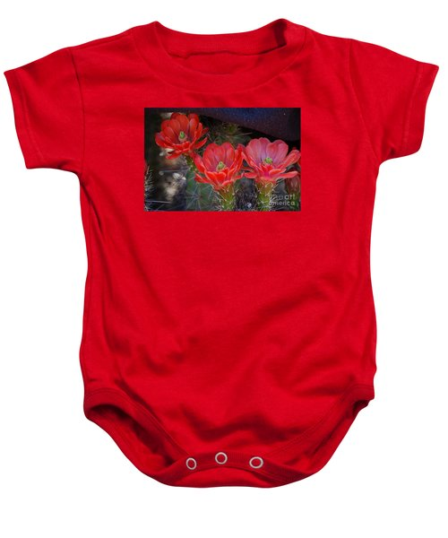 Cactus Flowers Baby Onesie