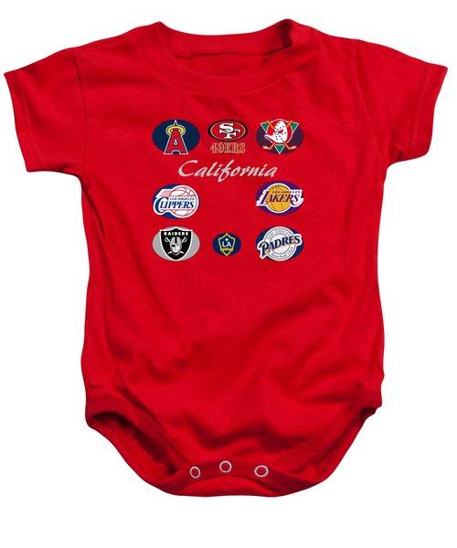 California Professional Sport Teams Collage  Baby Onesie