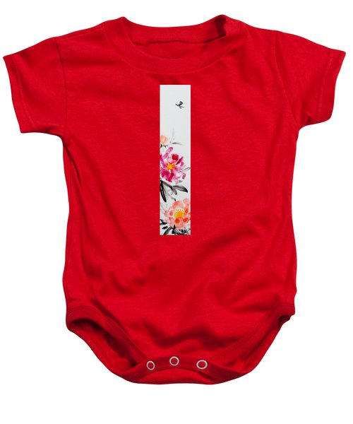Camellia And Butterfly Baby Onesie