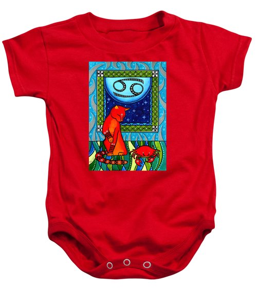 Cancer Cat Zodiac Baby Onesie