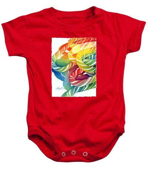 Candy Canes Baby Onesie