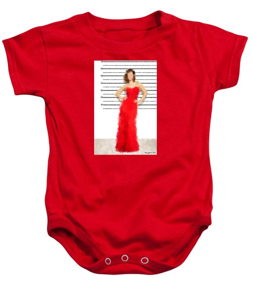 Baby Onesie featuring the digital art Carmela by Nancy Levan
