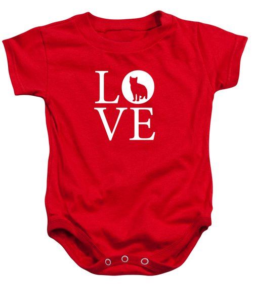 Cat Love Red Baby Onesie by Nancy Ingersoll
