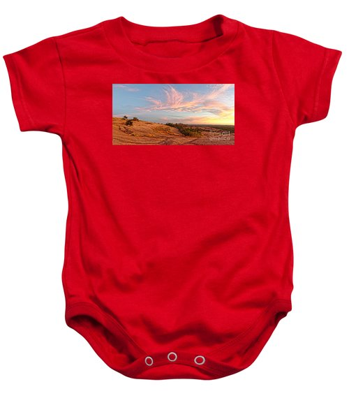 Chasing Angels Of Light Over Enchanted Rock - Fredericksburg Texas Hill Country Baby Onesie