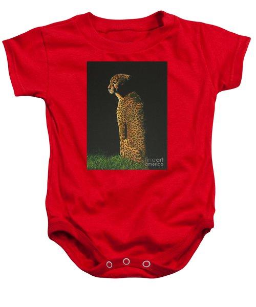 Cheetah At Sunset Baby Onesie