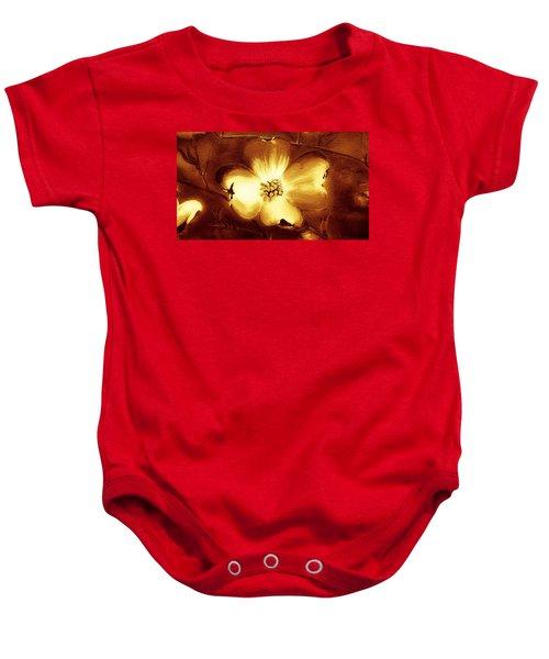 Cherokee Rose Dogwood - Single Glow Baby Onesie