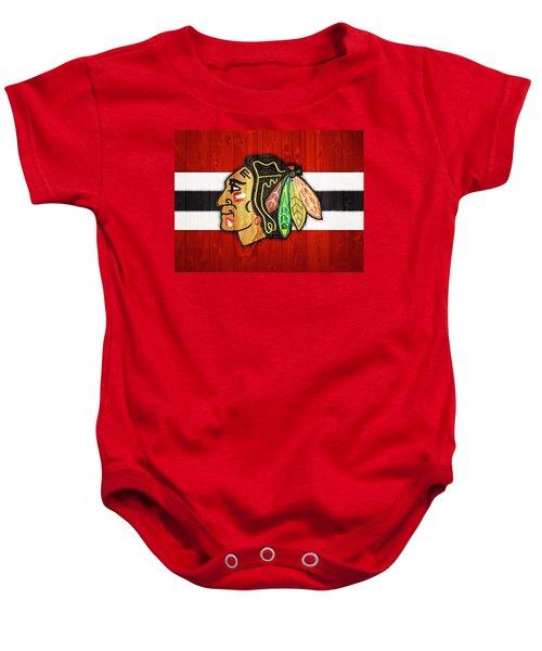 Chicago Blackhawks Barn Door Baby Onesie