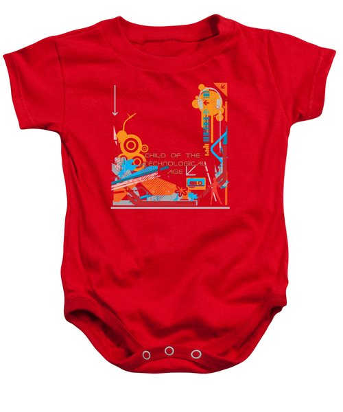 Child Of The Technological Age Baby Onesie