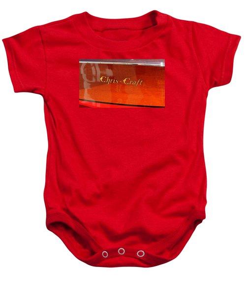 Chris Craft Logo Baby Onesie by Michelle Calkins