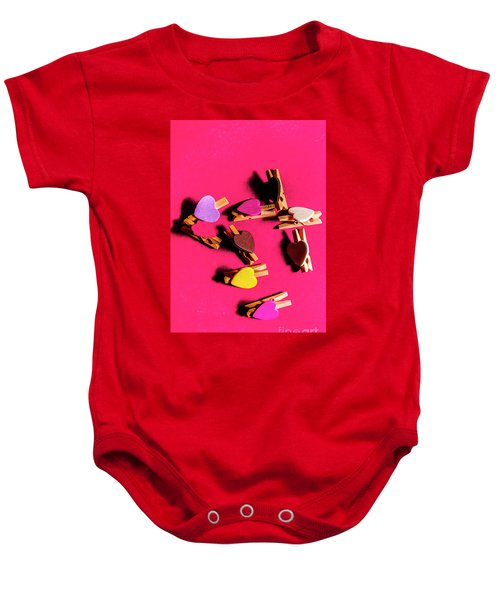 Clothespin Lovers Baby Onesie