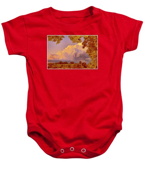 Clouds At Sunset, Southeastern Pennsylvania Baby Onesie