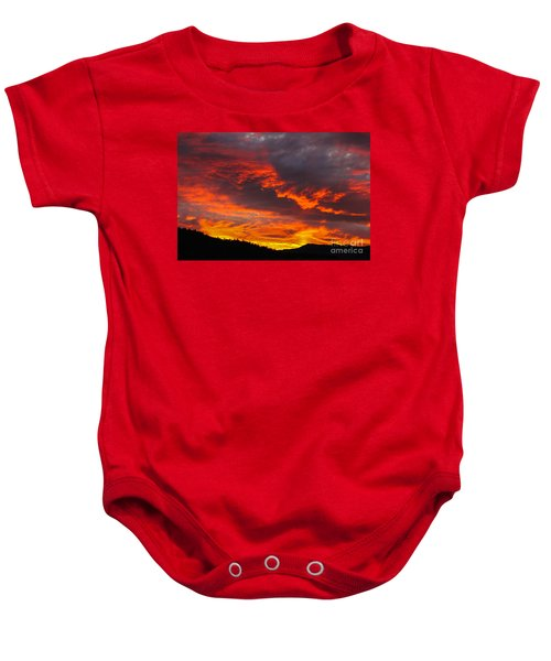 Clouds On Fire Baby Onesie