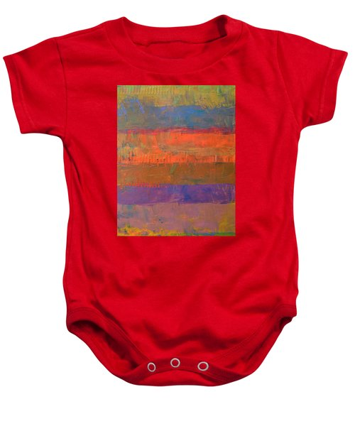 Baby Onesie featuring the painting Color Collage Two by Michelle Calkins
