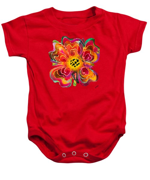 Colorful Flower Art - Summer Love By Sharon Cummings Baby Onesie