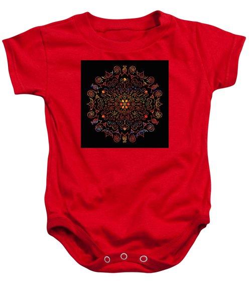 Colorful Mandala With Black Baby Onesie