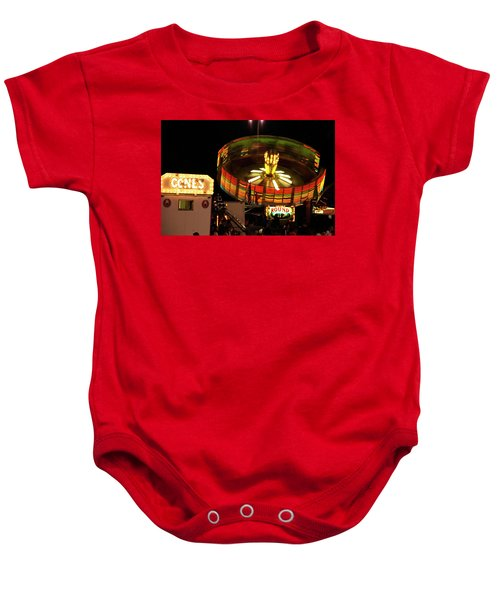Colorful Round Up Wheel Baby Onesie