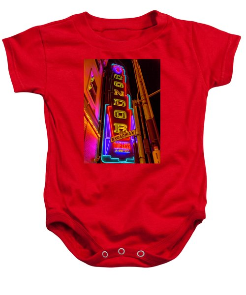 Condor Neon On Broadway Baby Onesie