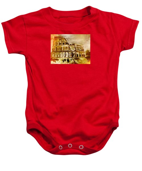 Crazy Colosseum Baby Onesie