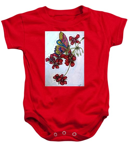 Crimson Fancy Baby Onesie