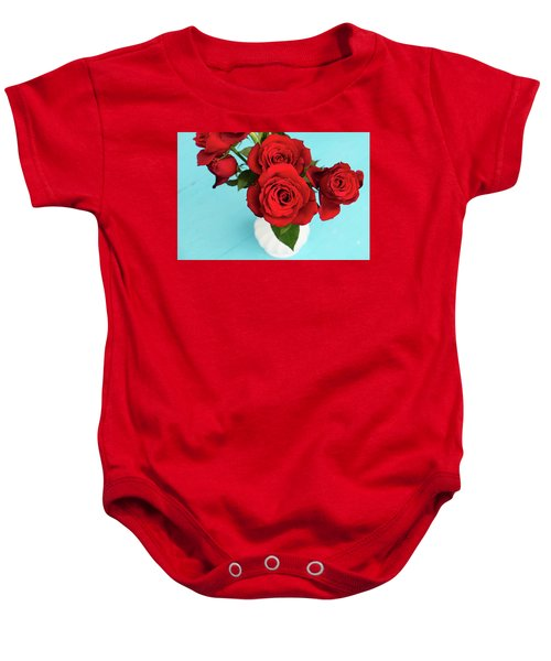 Crimson Roses Baby Onesie
