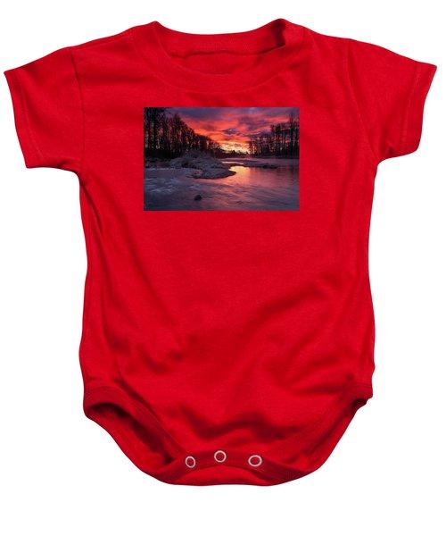 Sage Island Sunrise Baby Onesie