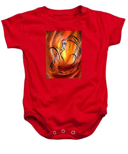 Dancing Fire I Baby Onesie