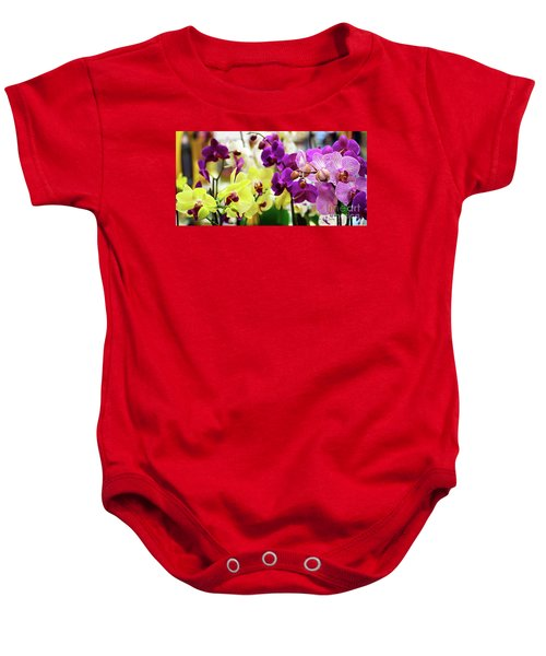 Decorative Orchids Still Life C82418 Baby Onesie