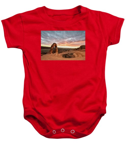 Delicate At Sunset Baby Onesie