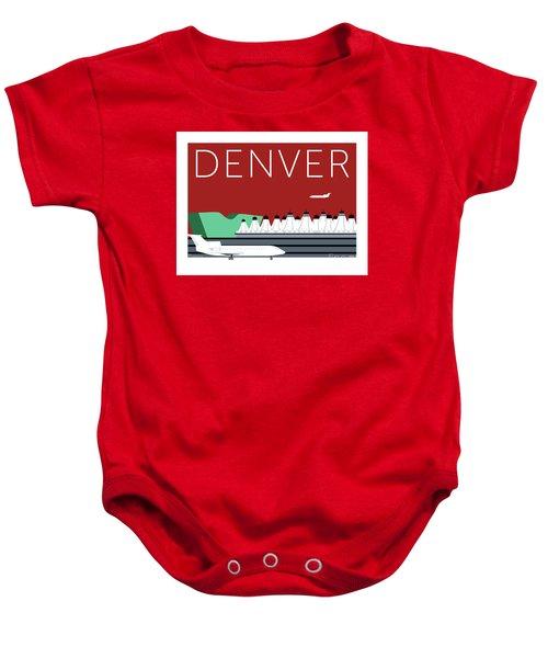 Denver Dia/maroon Baby Onesie