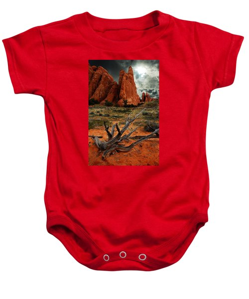 Desert Floor Baby Onesie