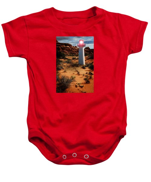 Desert Lighthouse Baby Onesie