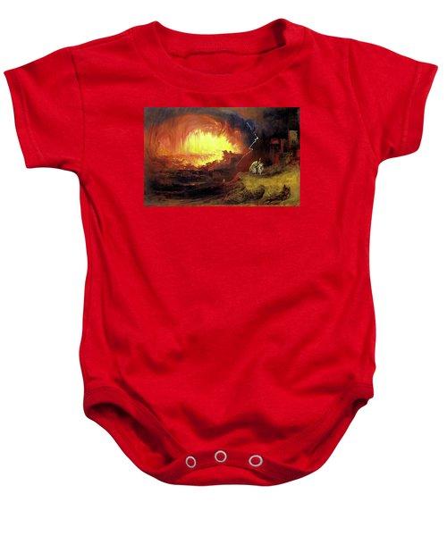 Destruction Of Sodom And Gomorah Baby Onesie