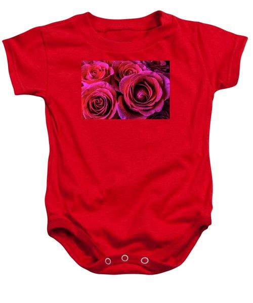 Dewy Rose Bouquet Baby Onesie