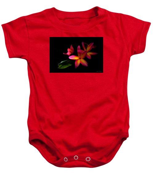 Digitized Sunset Plumerias  Baby Onesie