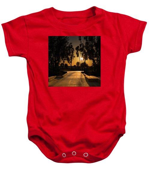 Dominguez Hills Sunset Baby Onesie
