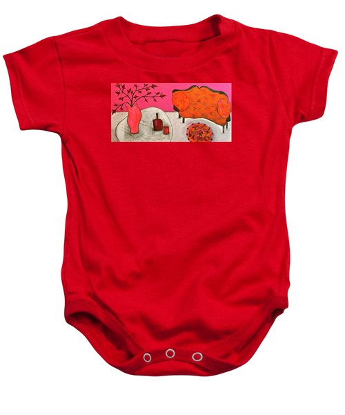 Down The Stairs Into The Living Room  By Paul Paucciarelli  Baby Onesie