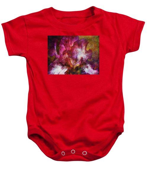 Dramatic White And Purple 0273 Idp_2 Baby Onesie