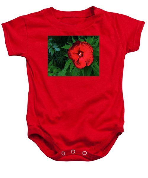 Dynamic Red Baby Onesie