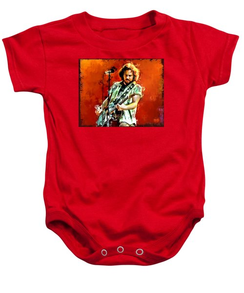 Eddie Vedder Painting Baby Onesie by Scott Wallace