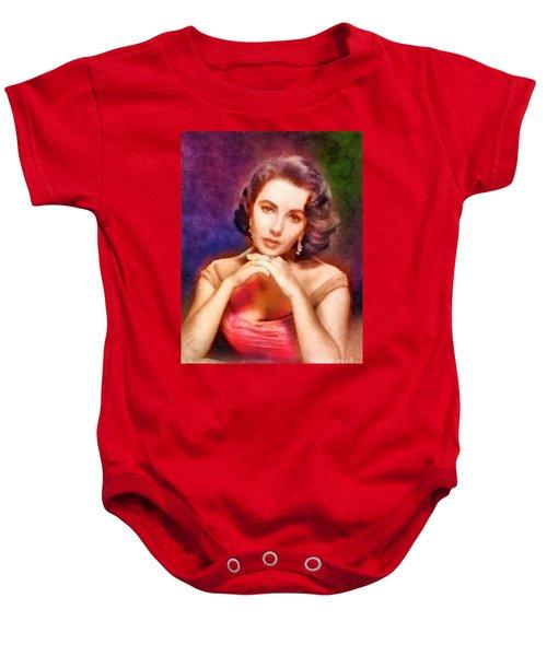 Elizabeth Taylor, Vintage Hollywood Legend Baby Onesie