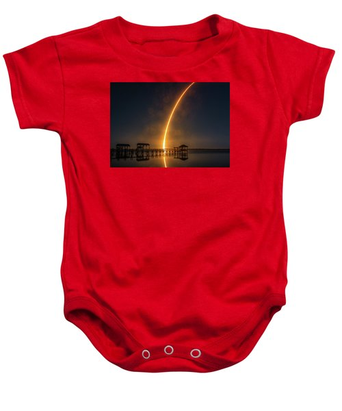 Falcon 9  Night Launch Baby Onesie