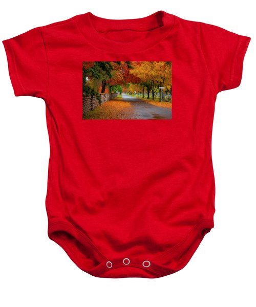 Fall In The Cemetery Baby Onesie