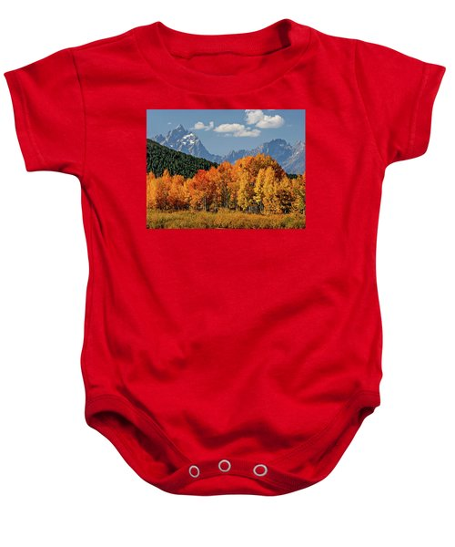 Fall In The Tetons Baby Onesie